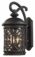 ELK 42061/2 Tuscany Coast Weathered Charcoal 18 Inch Tall Medium Exterior Wall Lamp