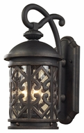 ELK 42062/3 Tuscany Coast Large 22 Inch Tall Exterior Sconce With Clear Seeded Glass