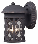 ELK 42065/1 Tuscany Coast Extra Small 9 Inch Tall Weathered Charcoal Outdoor Sconce Light