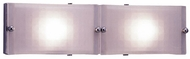 PLC 1802 Gem Contemporary 2 Light Acid Frost Halogen Bathroom Light
