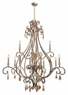 Crystorama 7520-DT Shelby 48 Inch Diameter Traditional Distressed Twilight Finish Candelabra Chandelier