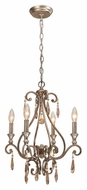 Crystorama 7524-DT Shelby Mini 17 Inch Diameter Distressed Twilight Candle Chandelier