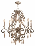 Crystorama 7526-DT Shelby 6 Candle Distressed Twilight 28 Inch Diameter Chandelier Lighting