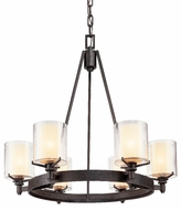 Troy F1716-FR Arcadia 6 Light French Iron Chandelier
