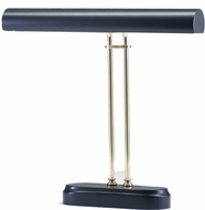 House of Troy P16d02618 2 Light Polished Brass Piano Lamp with Black Accents