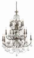 Crystorama 5117-EB-CL-MWP Regis Large 36 Inch Diameter English Bronze Chandelier - 18 Candles