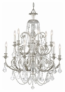 Crystorama 5119-OS-CL-MWP Regis 6 Candle Olde Silver Finish 32 Inch Diameter Lighting Chandelier