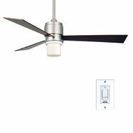Fanimation Fans FP4620SN Zonix Contemporary Ceiling Fan in Satin Nickel with Downlight