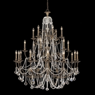 Crystorama 5120-EB-CL-MWP Regis Extra Large 48 Inch Diameter English Bronze Candelabra Chandelier Lighting