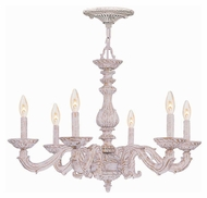 Crystorama 5126-AW Sutton Antique White 6 Candle Traditional Small Chandelier Lighting