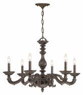 Crystorama 5126-VB Sutton 6 Candle Venetian Bronze Finish 28 Inch Diameter Traditional Chandelier