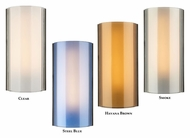 Tech Jaxon Colored Glass Transitional 14 Inch Tall Wall Sconce Lighting