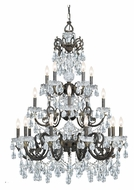 Crystorama 5190-EB-CL-MWP Legacy 20 Candle English Bronze 34 Inch Diameter Lighting Chandelier