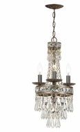 Crystorama 5263-EB-CL-MWP Mercer 4 Candle English Bronze 10 Inch Diameter Mini Chandelier Lighting