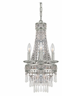 Crystorama 5263-OS-CL-MWP Mercer 10 Inch Diameter Mini 4 Candle Olde Silver Chandelier