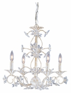 Crystorama 5404-AW Abbie 18 Inch Diameter Antique What 4 Candle Small Chandelier