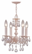 Crystorama 5514-BH-CL-MWP Paris Flea Market Blush 13 Inch Tall 4 Candle Mini Chandelier Lamp