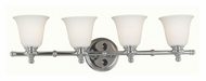 Kenroy Home 91694CH Connery Chrome Finish 4 Lamp Vanity Lighting Fixture - 32 Inches Wide