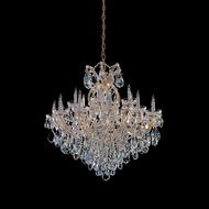 Crystorama 4418-GD-CL-MWP Maria Theresa 36 Inch Tall 18 Candle Gold Finish Crystal Chandelier Light