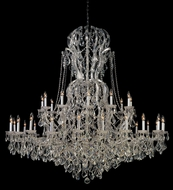 Crystorama 4460-CH-CL-MWP Maria Theresa Polished Chrome Extra Large 64 Inch Diameter 36 Candle Chandelier Lighting