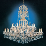 Crystorama 4460-GD-CL-MWP Maria Theresa 36 Light Gold Finish 64 Inch Diameter Extra Large Candelabra Chandelier