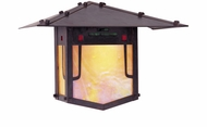 Arroyo Craftsman PDW-12GRC Pagoda Asian Outdoor Wall Sconce - 9 inches tall