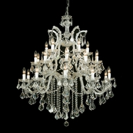 Crystorama 4470-GD-CL-MWP Maria Theresa 38 Inch Diameter Gold Finish 26 Candle Ceiling Chandelier Light Fixture