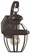 Quoizel NY8315K Newbury 12.5 inches tall outdoor wall lamp in mystic black