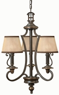 Hinkley 4243OB Plymouth Bronze 3 Light Traditional Mini Chandelier