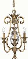 Hinkley 4103BB Brass Plantation 3 Light Small Tropical Mini Chandelier