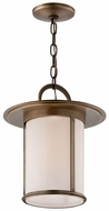 Troy F3247 Wright 14 Inch Tall Antique Brass Finish Pendant Hanging Light