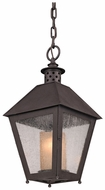 Troy F3297 Sagamore Rust Finish 20 Inch Tall Hanging Pendant Light Fixture