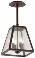 Troy FCD3437 Amherst Wrought Iron 12 Inch Tall Adjustable Stem Outdoor Hanging Pendant Lighting