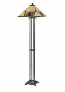 Meyda Tiffany 106488 Pinecone Ridge Rustic 63 Inch Tall Floor Lamp