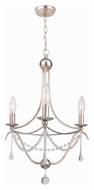 Crystorama 423-SA Metro II 15 Inch Diameter Antique Silver 3 Candle Mini Chandelier