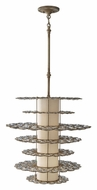 Feiss P1275BUS Lucia Burnished Silver 23 Inch Diameter Modern Pendant Light