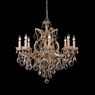 Crystorama 4409-AB-GT-MWP Maria Theresa Antique Brass Finish 28 Inch Diameter Large Chandelier - 9 Candles