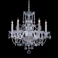 Crystorama 1005-CH-CL-MWP Traditional Crystal 22 Inch Diameter Polished Chrome Finish 5 Candle Hanging Chandelier - Small