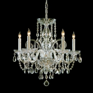Crystorama 1005-PB-CL-MWP Traditional Crystal Polished Brass Finish 22 Inch Diameter 5 Candle Lighting Chandelier - Small