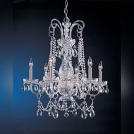 Crystorama 1030-CH-CL-MWP Traditional Crystal Medium 28 Inch Diameter Polished Chrome Chandelier Light