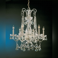 Crystorama 1030-PB-CL-MWP Traditional Crystal Polished Brass 28 Inch Diameter Chandelier Light Fixture