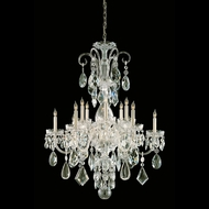 Crystorama 1045-PB-CL-MWP Traditional Crystal 31 Inch Diameter Polished Brass Finish 12 Candle Chandelier