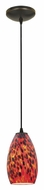 Access 28012-2C-ORB/CRN Tali�Cord Hanging Bronze Finish Canrival Glass Fluorescent Lighting Pendant