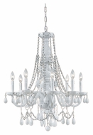 Crystorama 1078-WW-WH-MWP Envogue Large Wet White 26 Inch Diameter 8 Candle Ceiling Chandelier