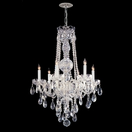 Crystorama 1106-CH-CL-MWP Traditional Crystal Medium 26 Inch Diameter Polished Chrome Candle Chandelier