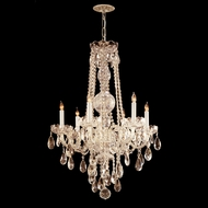 Crystorama 1106-PB-CL-MWP Traditional Crystal Medium Polished Brass Finish 26 Inch Diameter Chandelier Light
