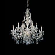Crystorama 1112-PB-CL-MWP Traditional Crystal 36 Inch Diameter Polished Brass 12 Candle Chandelier