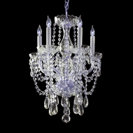 Crystorama 1129-CH-CL-MWP Traditional Crystal 14 Inch Diameter Polished Chrome Mini Chandelier Lamp