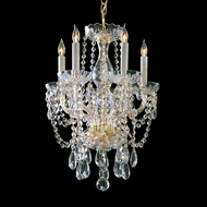 Crystorama 1129-PB-CL-MWP Traditional Crystal 20 Inch Tall Polished Brass Finish Hanging Mini Chandelier