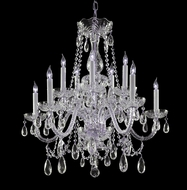 Crystorama 1130-CH-CL-MWP Traditional Crystal 26 Inch Diameter 10 Candle Chandelier - Polished Chrome